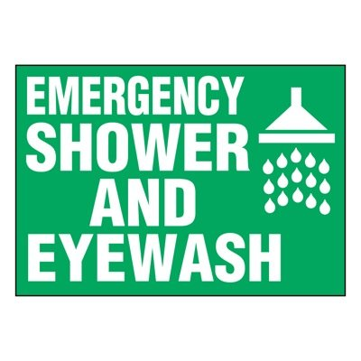 Ultra-Stick Signs - Emergency Shower And Eyewash