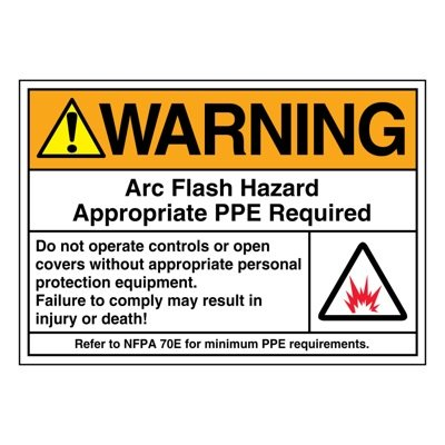 Ultra-Stick Signs - Warning Arc Flash Hazard