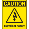 Universal Graphic Signs And Labels - Caution Electrical Hazard