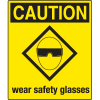 Universal Graphic Signs And Labels - Caution Wear Safety Glasses