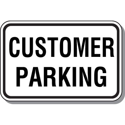 Visitor Parking Signs - Customer Parking