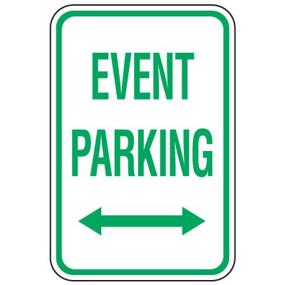 Visitor Parking Signs - Event Parking (Double Arrow)
