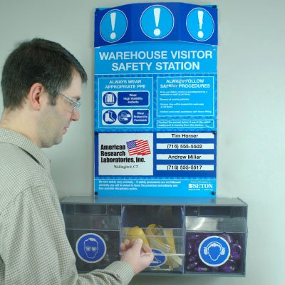 Visitor PPE Safety Stations