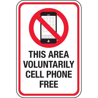 Voluntarily Cell Phone Free Signs