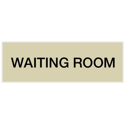Waiting Room - Engraved Standard Worded Signs