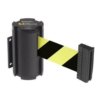 Beltrac® Wall-Mount Retractable Belts - Black/Yellow Belt