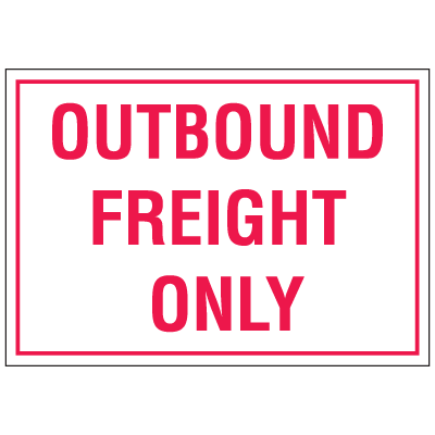 "Warehouse Floor Markers- ""outbound Freight"""