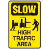 Slow High Traffic Area Warehouse Traffic Signs