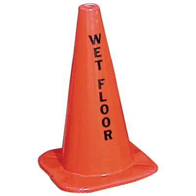 Warning Message Traffic Cones - Wet Floor