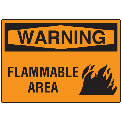 OSHA Warning Signs - Warning Flammable Area