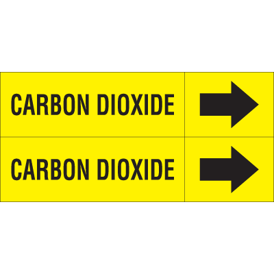 Weather-Code™ Self-Adhesive Outdoor Pipe Markers - Carbon Dioxide