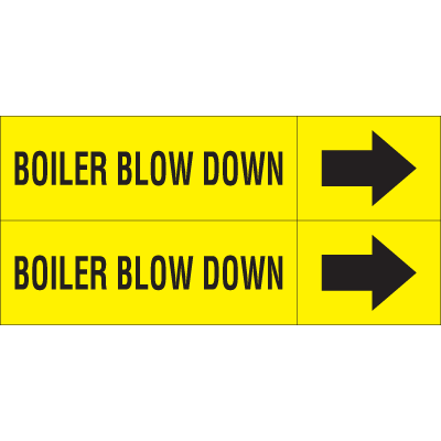 Weather-Code™ Self-Adhesive Outdoor Pipe Markers - Boiler Blow Down