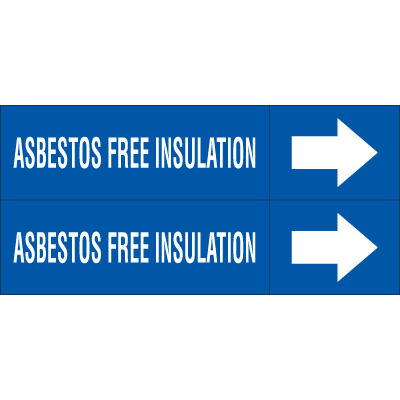 Weather-Code™ Self-Adhesive Outdoor Pipe Markers - Asbestos Free Insulation