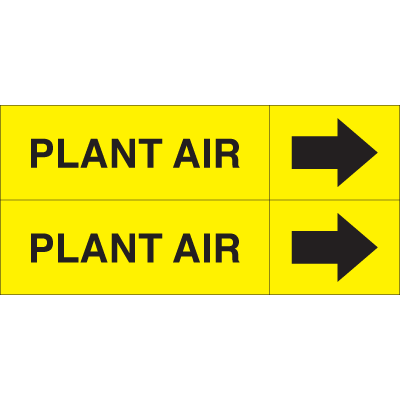 Weather-Code™ Self-Adhesive Outdoor Pipe Markers - Plant Air