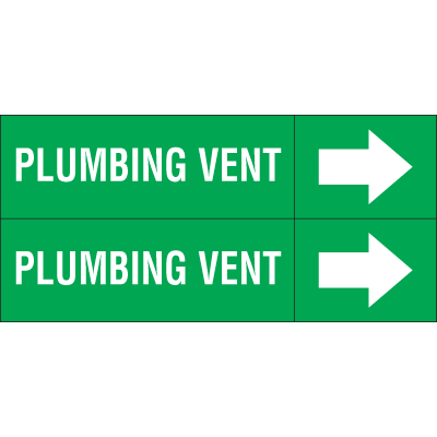 Weather-Code™ Self-Adhesive Outdoor Pipe Markers - Plumbing Vent