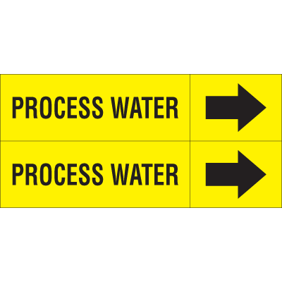 Weather-Code™ Self-Adhesive Outdoor Pipe Markers - Process Water