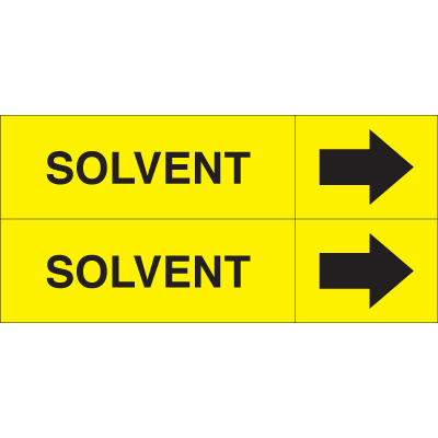 Weather-Code™ Self-Adhesive Outdoor Pipe Markers - Solvent