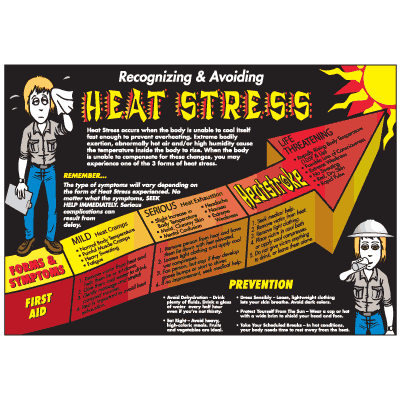 Heat Stress Workplace Safety Wallchart