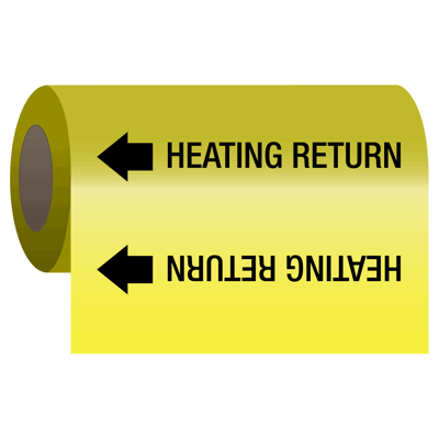 Wrap Around Adhesive Roll Markers - Heating Return