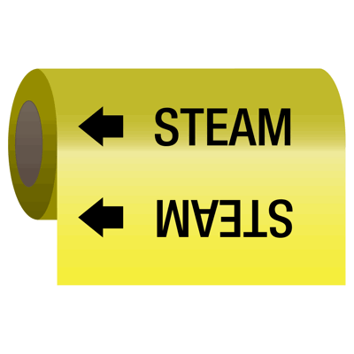 Wrap Around Adhesive Roll Markers - Steam