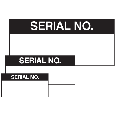 Serial No. Self Laminating Labels