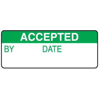 Accepted By Date Write On Labels On A Roll