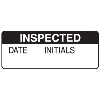 Inspected Date Initials Write On Labels On A Roll