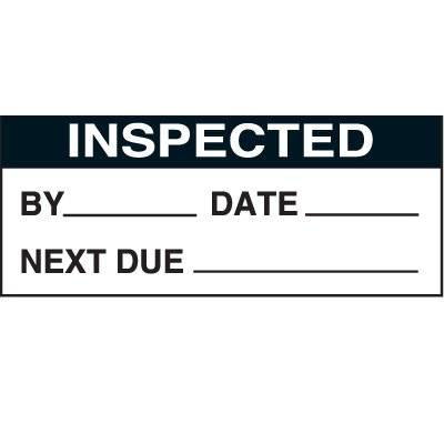 Inspected By Status Labels