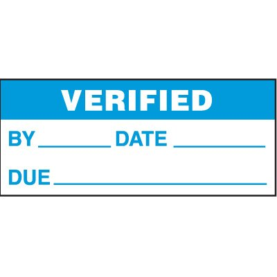 Verified Status Labels