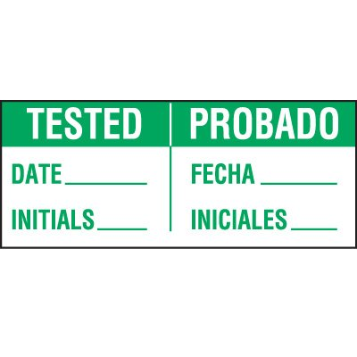 Bilingual Tested Status Label