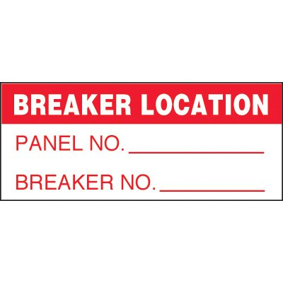 Breaker Location Status Label
