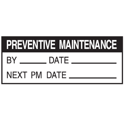 Maintenance Write On Status Labels