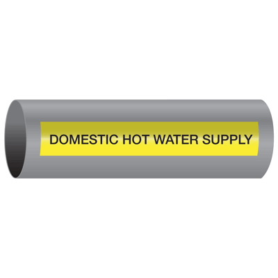 Xtreme-Code™ Self-Adhesive High Temperature Pipe Markers - Domestic Hot Water Supply