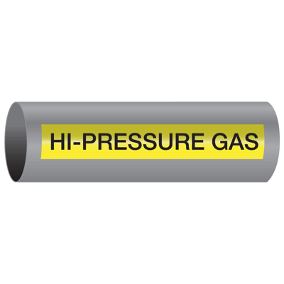 Xtreme-Code™ Self-Adhesive High Temperature Pipe Markers - Hi-Pressure Gas