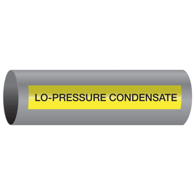 Xtreme-Code™ Self-Adhesive High Temperature Pipe Markers - Lo-Pressure Condensate