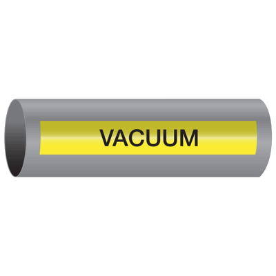 Xtreme-Code™ Self-Adhesive High Temperature Pipe Markers - Vacuum