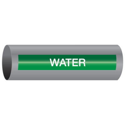Xtreme-Code™ Self-Adhesive High Temperature Pipe Markers - Water