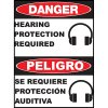 Danger Hearing Protection Bilingual Sign