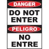 Danger Do Not Enter Sign - Bilingual