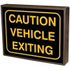 Caution Vehicle Exiting Backlit LED Sign