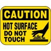 Caution Hot Surface Aluminum Mini Sign