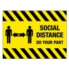 Temporary Social Distancing Floor Sign