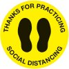 Economy Floor Marking Stickers - Thanks For Practicing Social Distancing