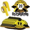 3D Social Distancing Label Kit for Auditoriums - Yellow