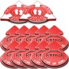 3D Social Distancing Label Kit for Outdoors - Red