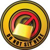 3D Bus Decals - Do Not Sit Here - Yellow