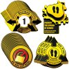 3D Social Distancing Label Kit for Alternating Bus Seats - Yellow