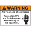 NEC Arc Flash Protection Labels - Warning Arc Flash And Shock Hazard Appropriate PPE And Tools Required