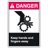 ANSI Z535 Safety Labels - Danger Keep Hands And Fingers Away