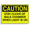 Baler Safety Labels - Caution Stay Clear of Bale Chamber